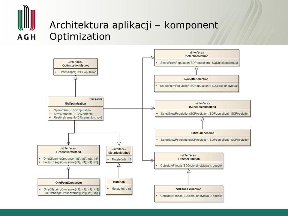Architektura aplikacji – komponent Optimization
