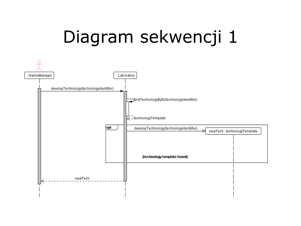 Diagram sekwencji 1