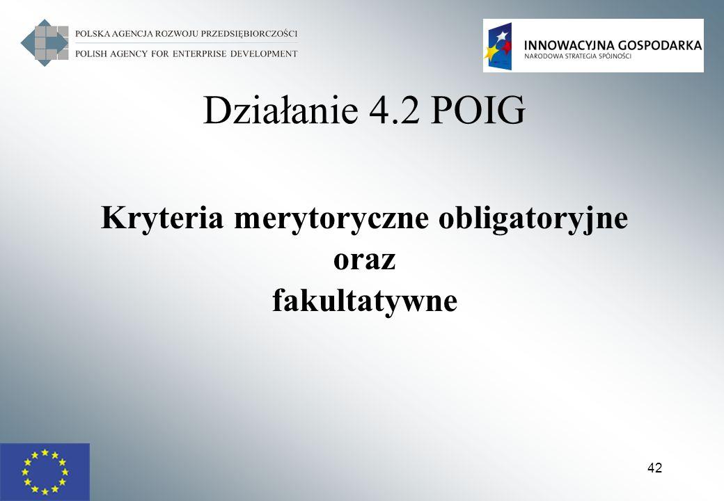Kryteria merytoryczne obligatoryjne
