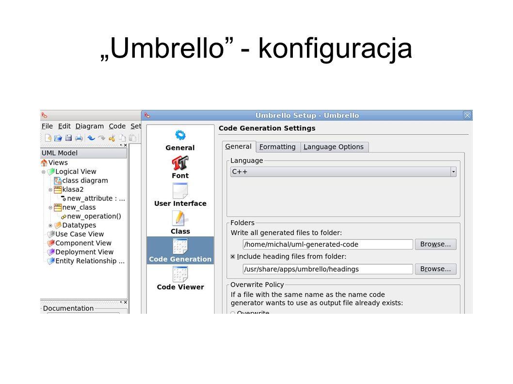 """""""Umbrello - konfiguracja"""