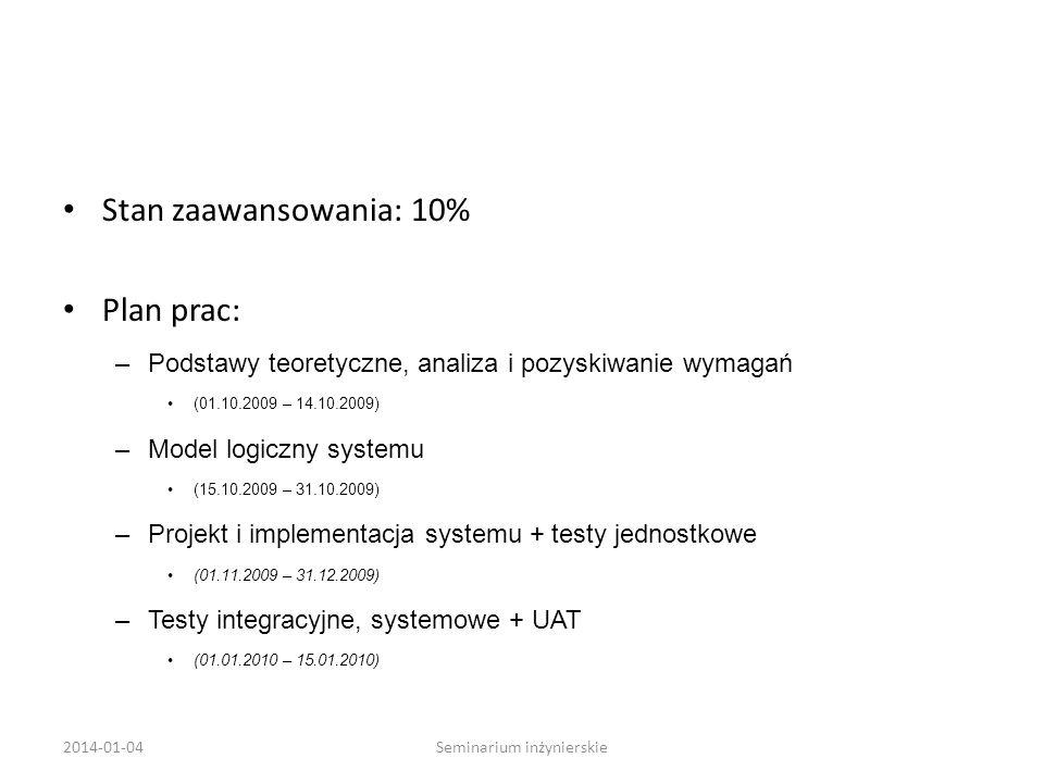Seminarium inżynierskie