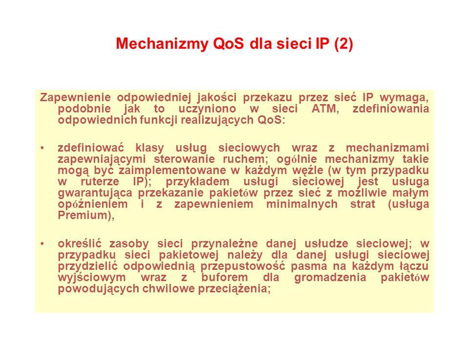 Mechanizmy QoS dla sieci IP (2)
