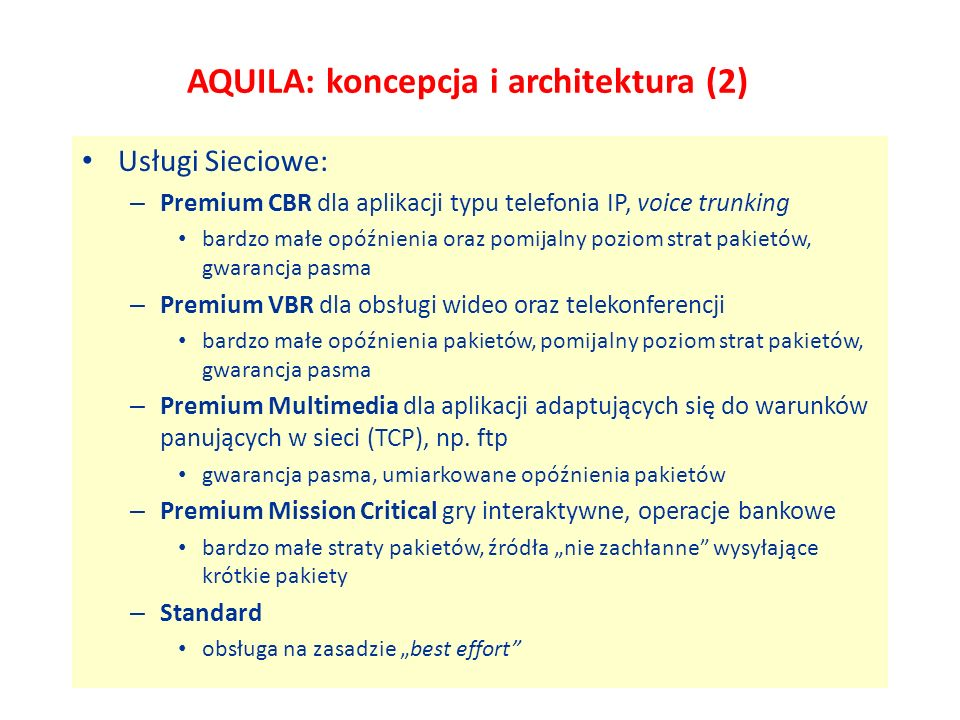 AQUILA: koncepcja i architektura (2)