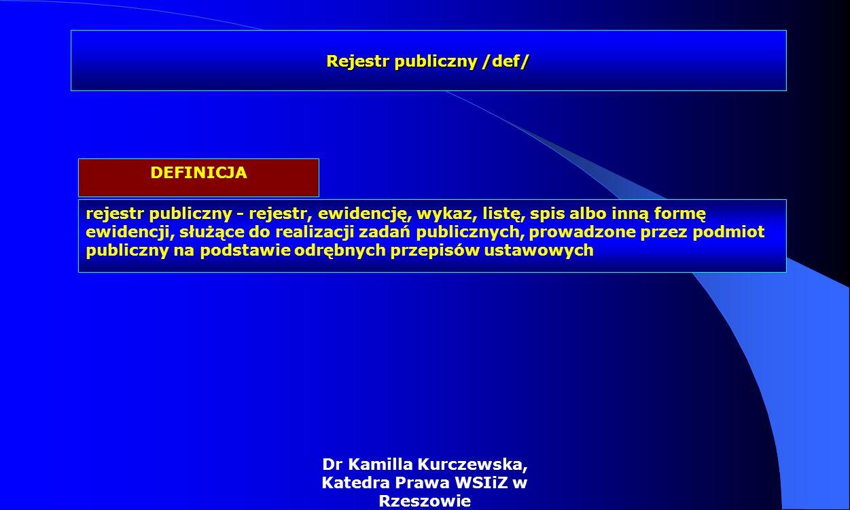 Rejestr publiczny /def/