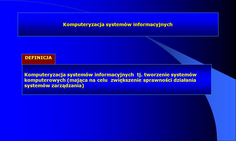Komputeryzacja systemów informacyjnych