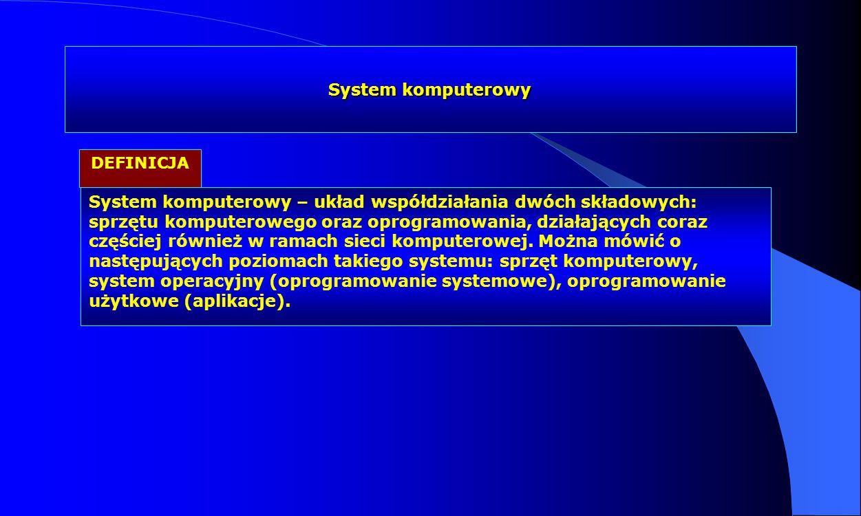 System komputerowy DEFINICJA.