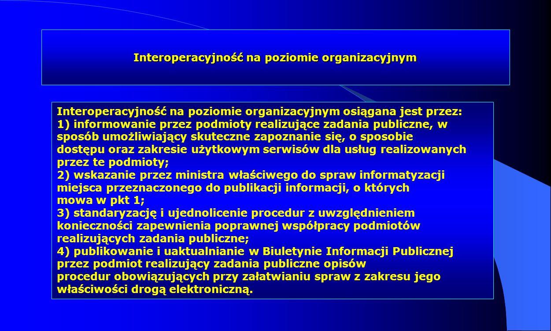 Interoperacyjność na poziomie organizacyjnym
