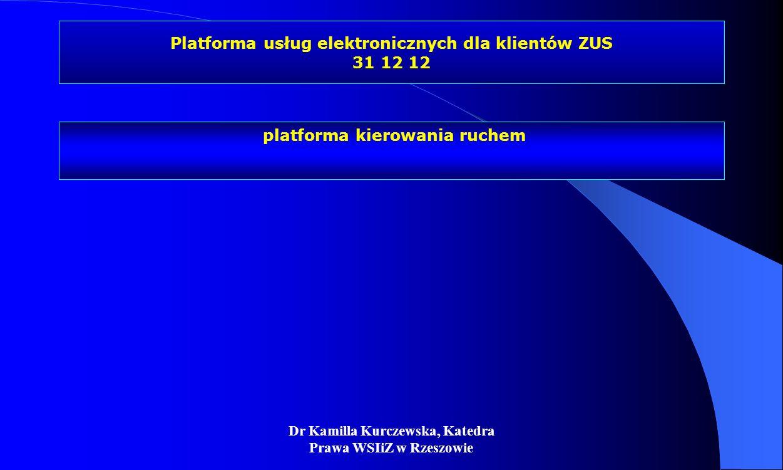 Platforma usług elektronicznych dla klientów ZUS 31 12 12