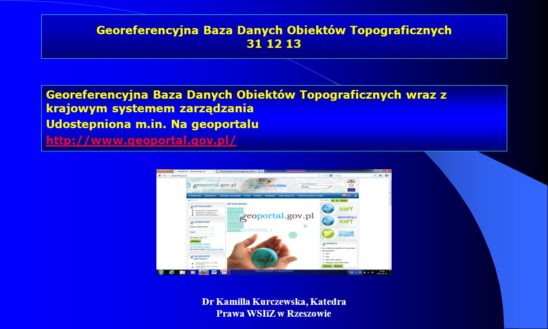 Georeferencyjna Baza Danych Obiektów Topograficznych 31 12 13