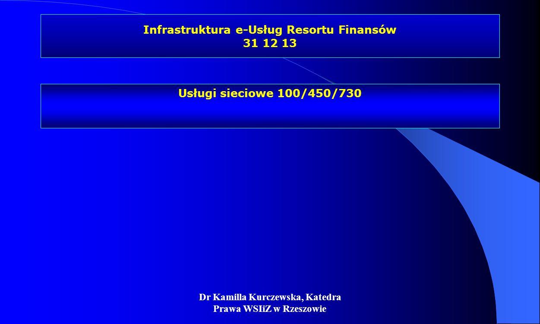 Infrastruktura e-Usług Resortu Finansów 31 12 13