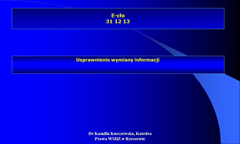 E-cło 31 12 13 Usprawnienie wymiany informacji