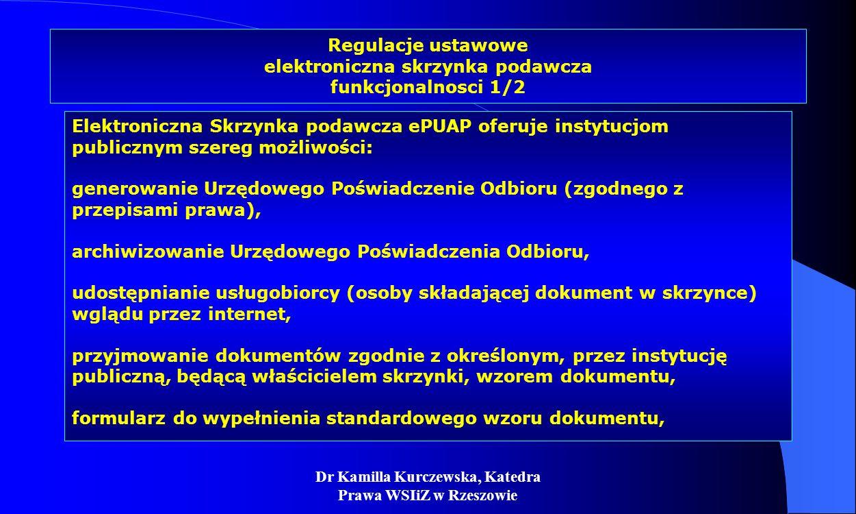 Regulacje ustawowe elektroniczna skrzynka podawcza funkcjonalnosci 1/2