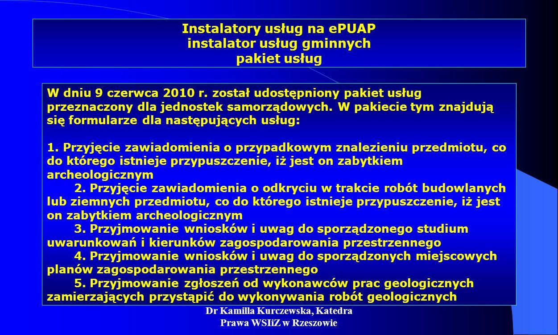 Instalatory usług na ePUAP instalator usług gminnych pakiet usług