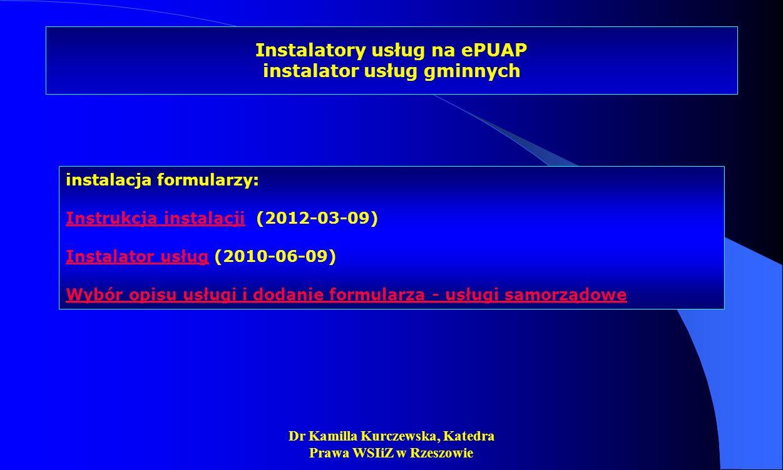 Instalatory usług na ePUAP instalator usług gminnych