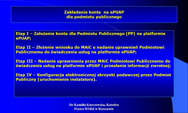 Zakładanie konta na ePUAP dla podmiotu publicznego