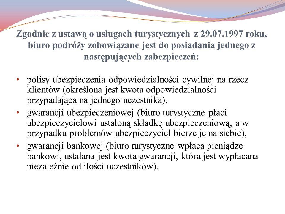 Zgodnie z ustawą o usługach turystycznych z 29. 07