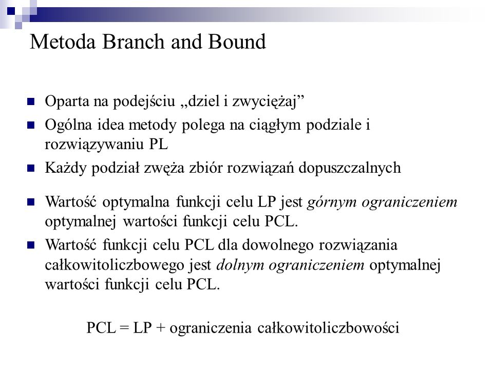 Metoda Branch and Bound