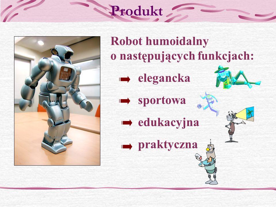 Produkt Robot humoidalny o następujących funkcjach: elegancka sportowa