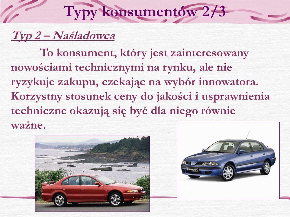 Typy konsumentów 2/3 Typ 2 – Naśladowca