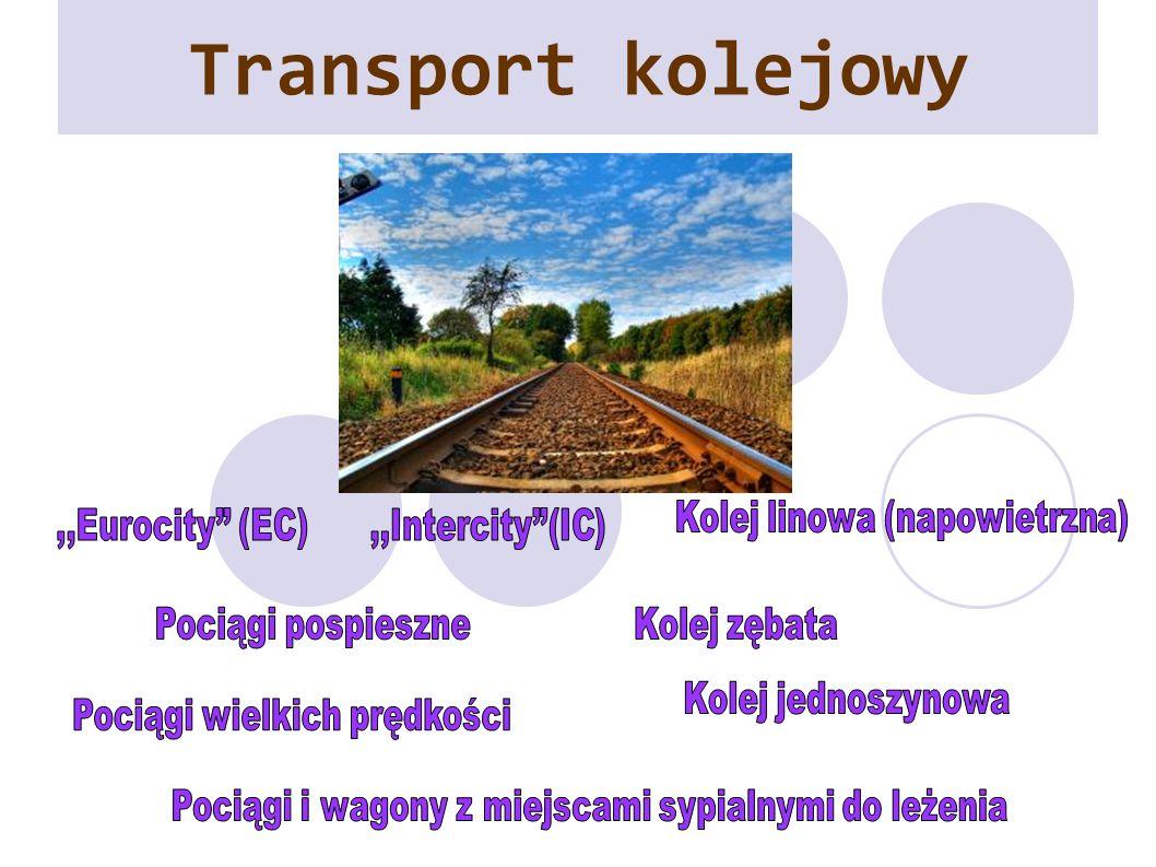 Transport kolejowy Kolej linowa (napowietrzna) ,,Eurocity (EC)