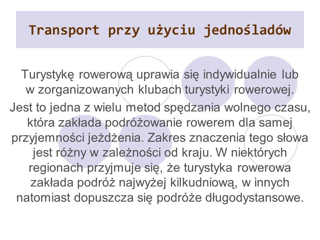 Transport przy użyciu jednośladów