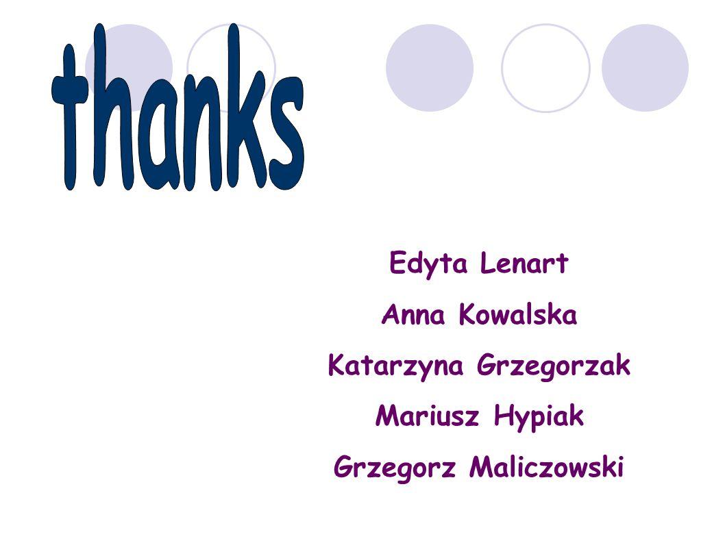 thanks Edyta Lenart Anna Kowalska Katarzyna Grzegorzak Mariusz Hypiak