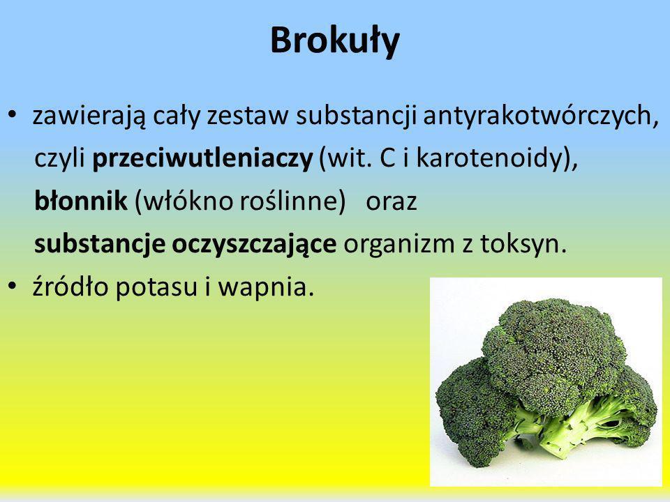 Brokuły zawierają cały zestaw substancji antyrakotwórczych,
