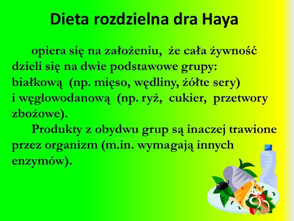 Dieta rozdzielna dra Haya