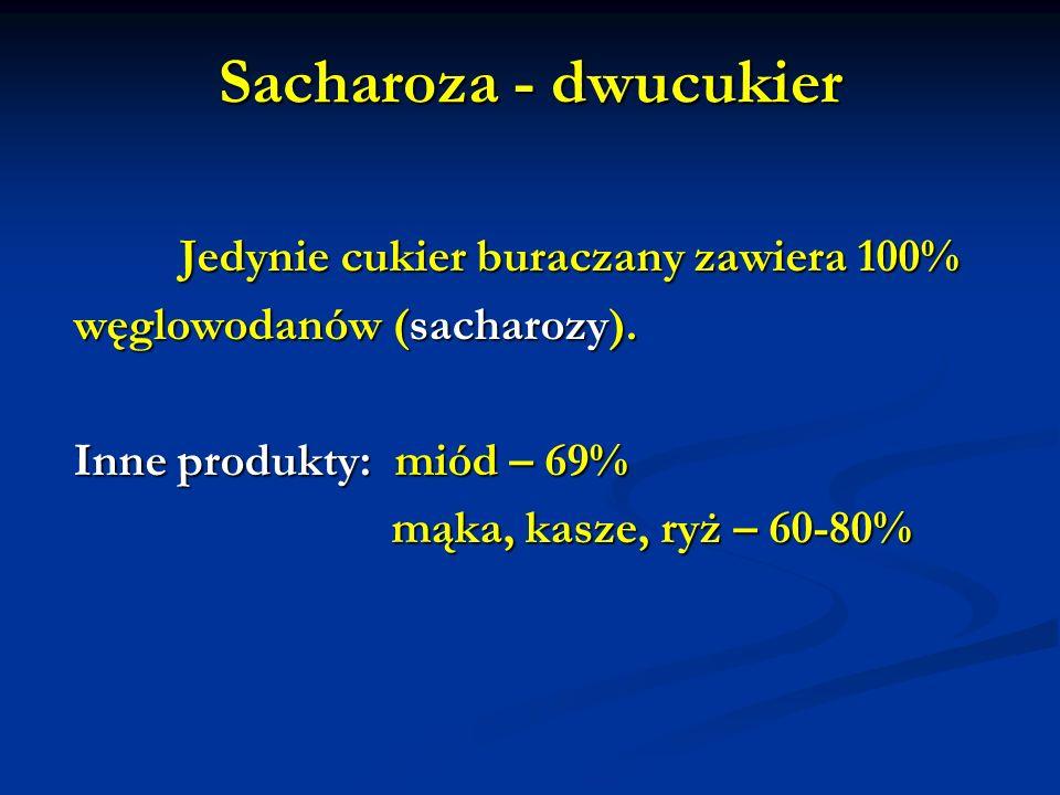 Sacharoza - dwucukier węglowodanów (sacharozy).
