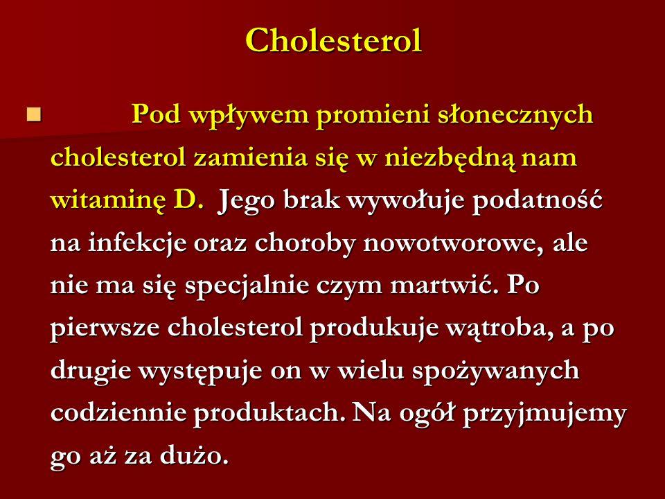Cholesterol Pod wpływem promieni słonecznych