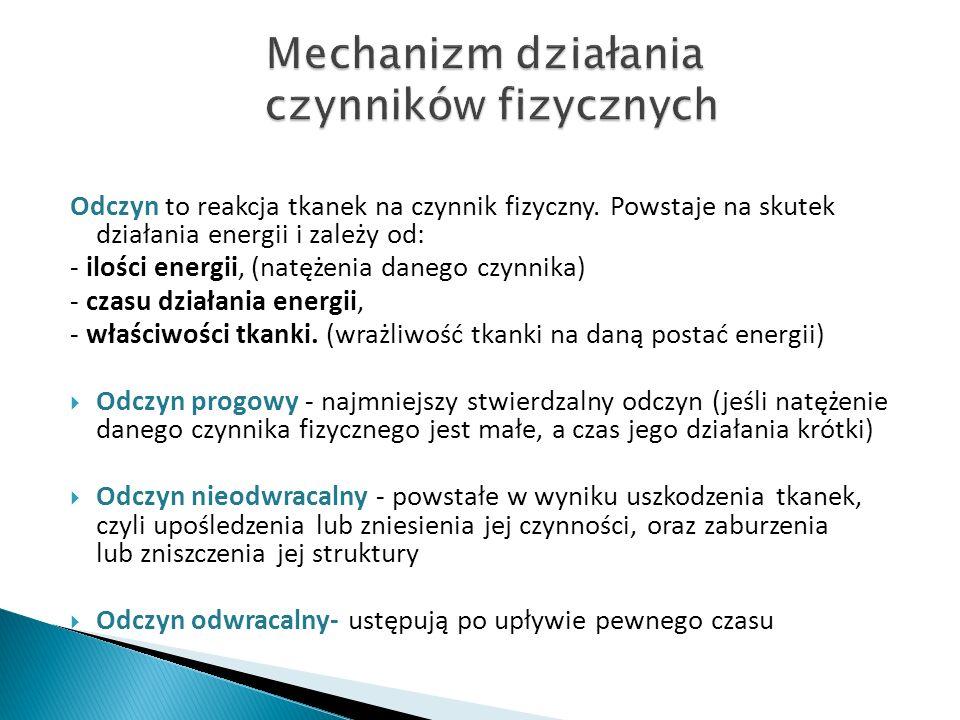 Mechanizm działania czynników fizycznych