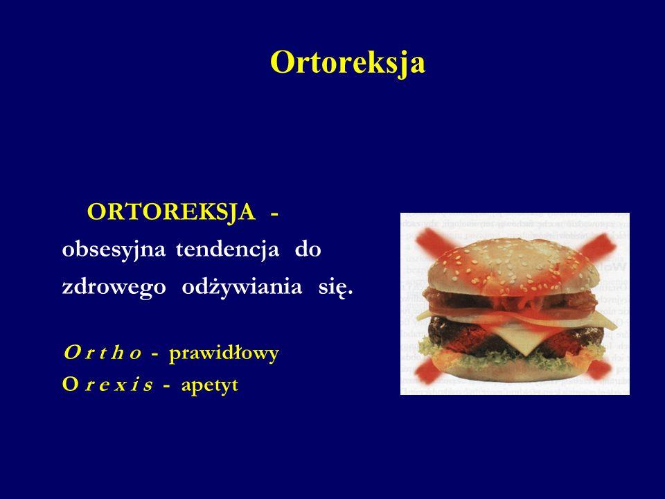 Ortoreksja ORTOREKSJA - obsesyjna tendencja do