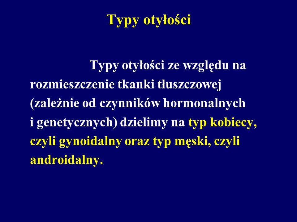Typy otyłości Typy otyłości ze względu na