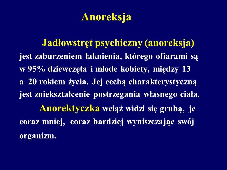 Anoreksja Jadłowstręt psychiczny (anoreksja)