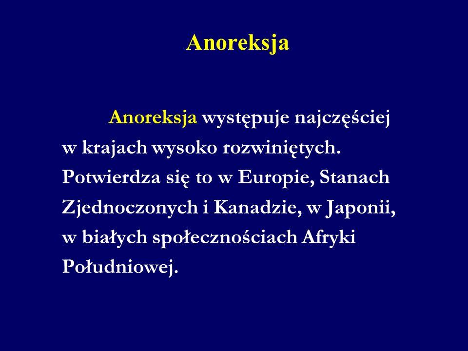 Anoreksja Anoreksja występuje najczęściej