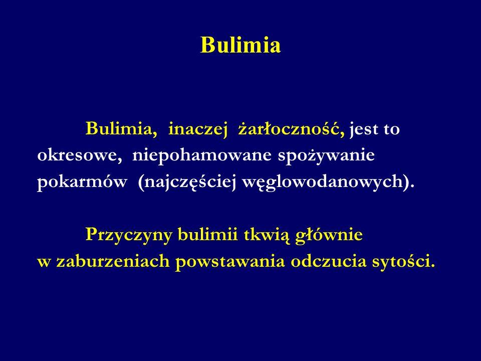 Bulimia okresowe, niepohamowane spożywanie