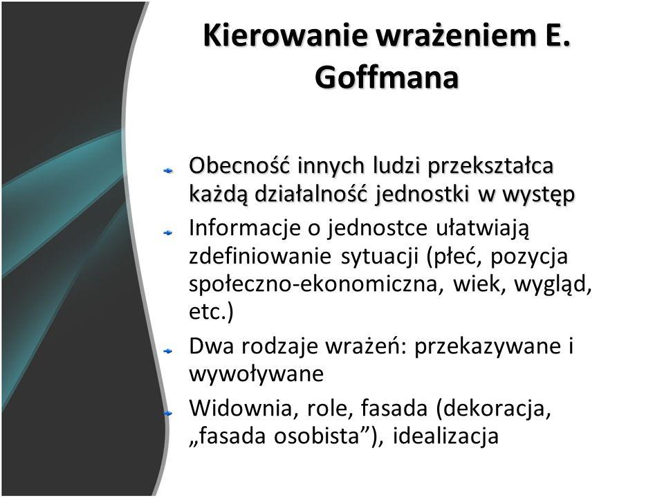 Kierowanie wrażeniem E. Goffmana