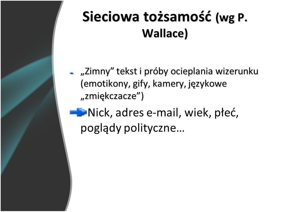 Sieciowa tożsamość (wg P. Wallace)
