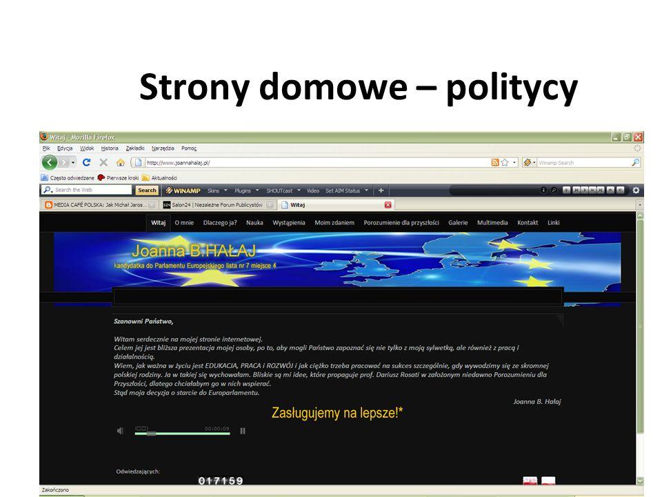 Strony domowe – politycy