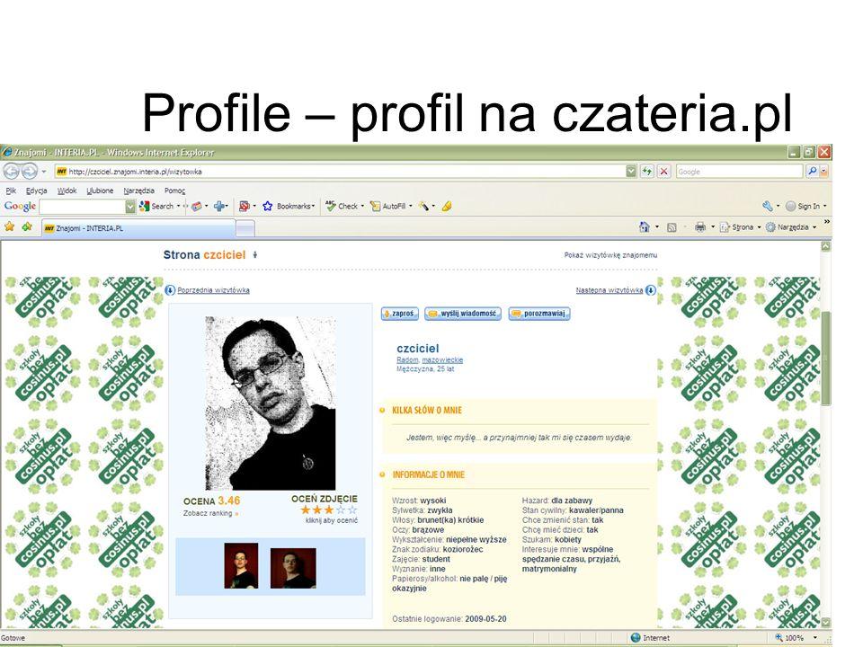 Profile – profil na czateria.pl