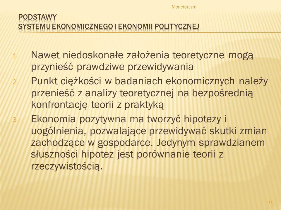 Podstawy systemu ekonomicznego i ekonomii politycznej