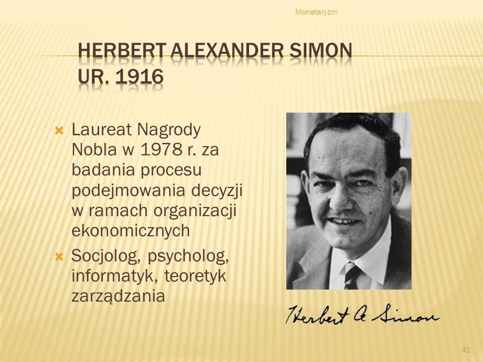 Herbert Alexander Simon ur. 1916