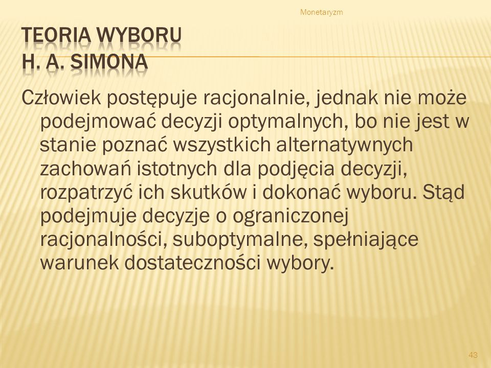 Teoria wyboru H. A. Simona