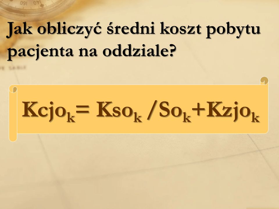 Kcjok= Ksok /Sok+Kzjok