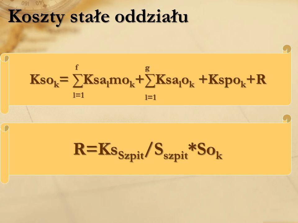 Ksok= ∑Ksalmok+∑Ksalok +Kspok+R