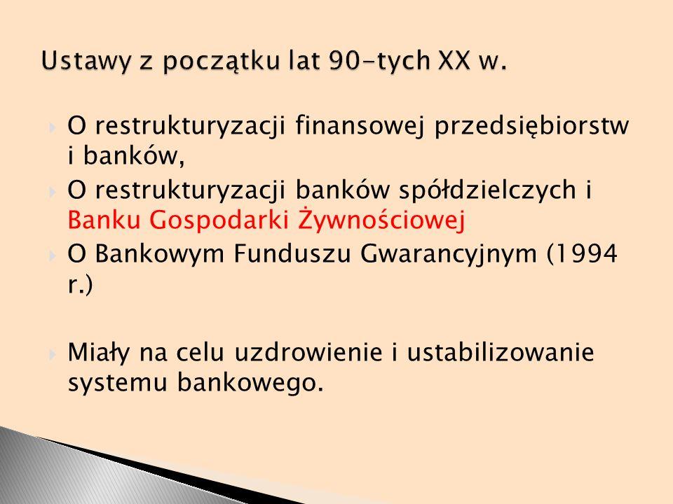 Ustawy z początku lat 90-tych XX w.