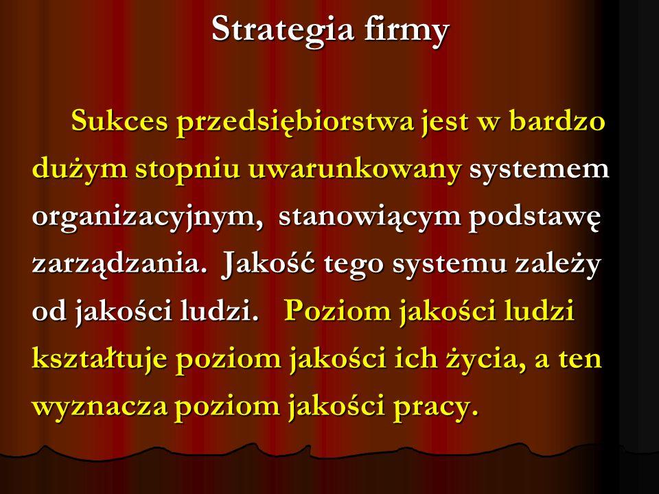 Strategia firmy dużym stopniu uwarunkowany systemem
