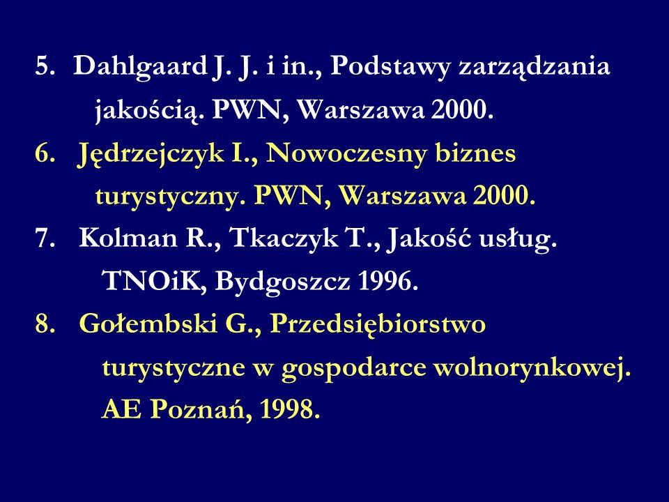 5. Dahlgaard J. J. i in., Podstawy zarządzania