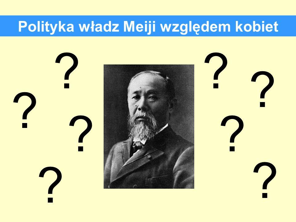 Polityka władz Meiji względem kobiet