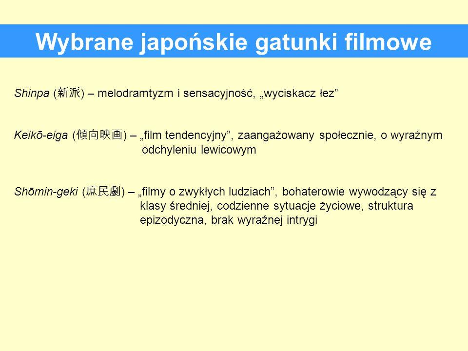 Wybrane japońskie gatunki filmowe